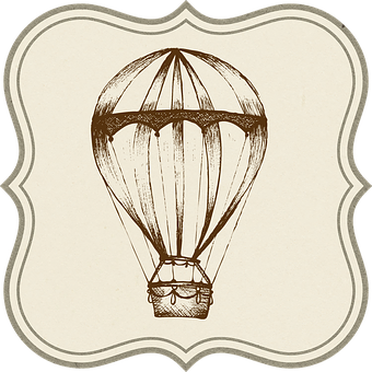 Hot Air Balloon, Travel, Transportation, Tag, Label