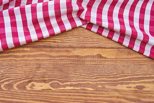 Table, Food, Cover, Fabric, Wood, Wood-fibre Boards