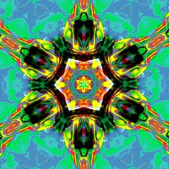 Chakra, Art, Heart, Healing, Blue, Yellow, Meditation
