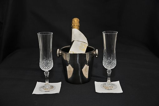 Champagne Glasses, Champagne, Party, Drink, Celebration