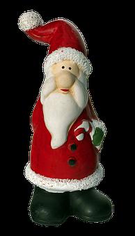 Santa Claus, Ceramic, Christmas, Figure