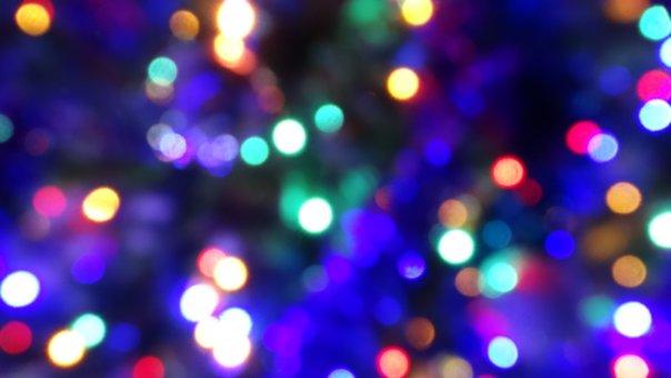 Lights, Christmas, Background, Colors, Blur