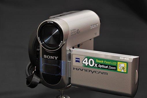 Video Camera, Closeup, Film, Technology, Digital