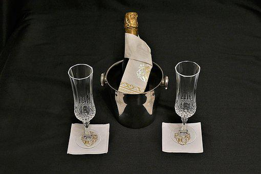 Champagne, Glasses, Champagne Cooler, Drink, Alcohol
