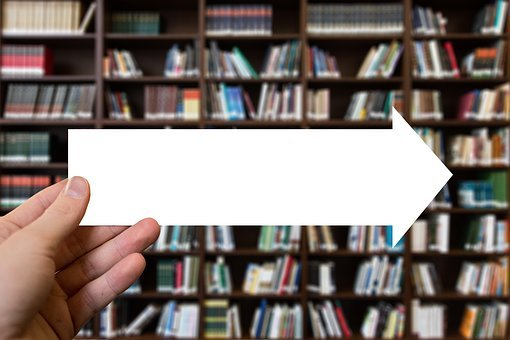 Arrow, Books, Hand, Keep, Direction, Read, Information
