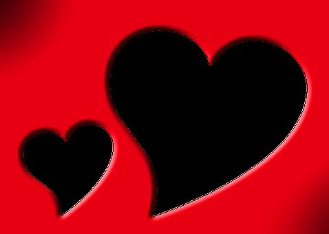 Picture Frame, Frame, Outline, Red, Mat, Heart, Form