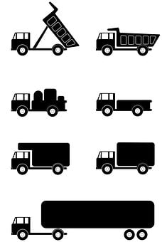 Travel, Symbol, Construction, Isolated, Icon, Tires
