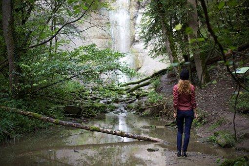 Hiking, Waterfall, Wanderin, Nature, Forest, Wanderlust