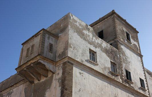 Morocco, Essaouira, Building, Police, Travel