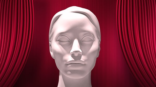 Mask, Curtain, Sculpture, Face, Eyes, Rigid, Dead