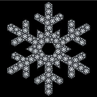 Snowflake, Abstract, Pattern, Shape, Snow, Winter