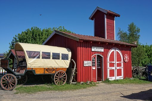 Western, Coach, Usa, America, Horse Drawn Carriage