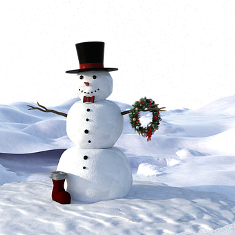 Snow Man, Winter, Wintry, Christmas, Cold, Snow, Slide