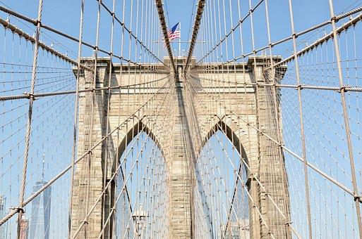 New York City, Usa, America, Brooklyn, Brooklyn Bridge