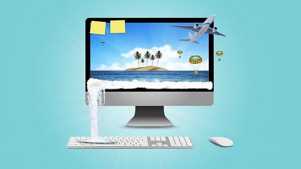 Vacation, Screensaver, Beach, Work, Remote Work