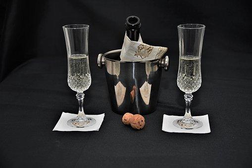 Champagne, Cork, Champagne Glasses, Champagne Cooler