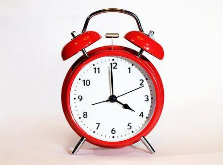 Clock, Alarm Clock, Deadline, Minute, Bell, Red