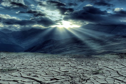 Desert, Sky, Sand, The Sun, The Background, Sunset