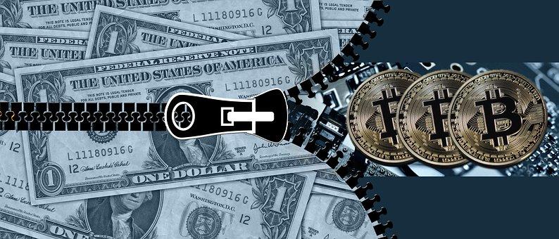 Bitcoin, Dollar, Coin, Money, Electronic Money