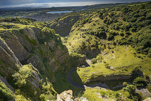 Cheddar Gorge, Natural Valley, Gorge, England, Valley