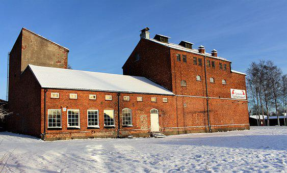 Factory, Architecture, Winter, Building, Industrial