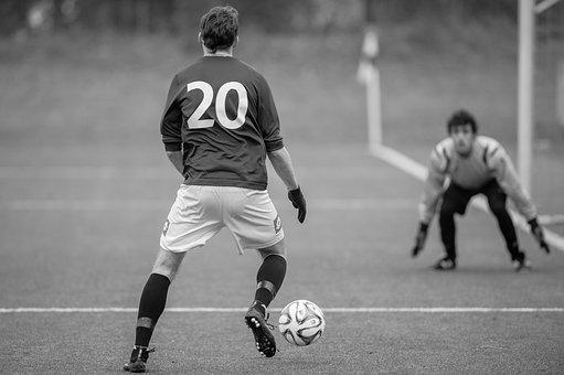 Football, Striker, Goalkeeper, Football Pitch, Sport