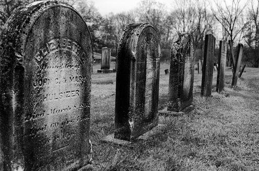 Tombstones, Graveyard, Graves, Tomb, Cemetery, Death