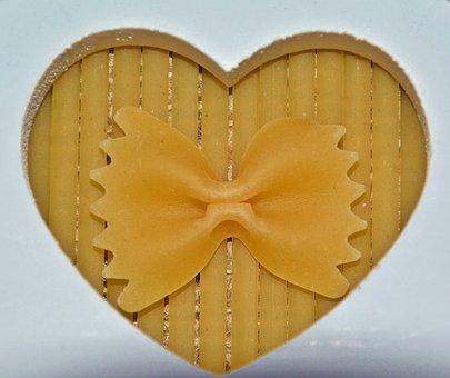 Pasta, Bow, Heart