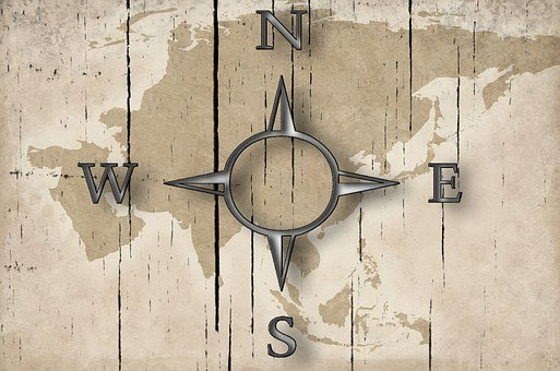 Compass, Map, Black, Icon, Isolated, Cruise, Adventure