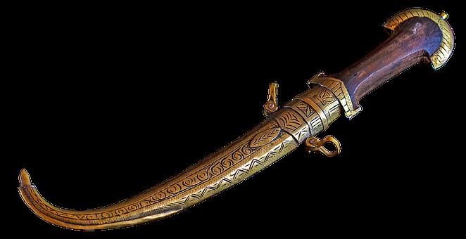 Weapon, Old, Handle, Isolated, Steel, Jambiya, Blade