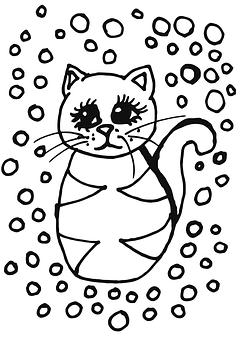 Ice Cream, Cat, Drawing, Fine Art, Pen, Markers
