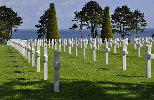 Military Cemetery, Normandy, Dday, Omaha Beach