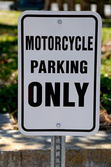 Motorcycle Parking, Sign, Motorcycle, Road, Symbol