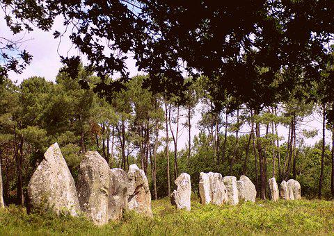 Dolmens, Megaliths, Nature, Brittany, Trees