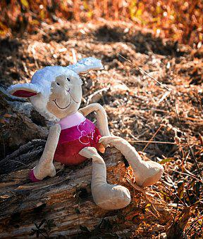 Plush, Doudou, Child, Toys, Sitting, Childhood, Cute