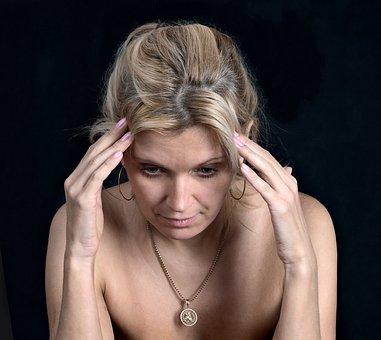 Woman, Loss, Sadness, Portrait, Face