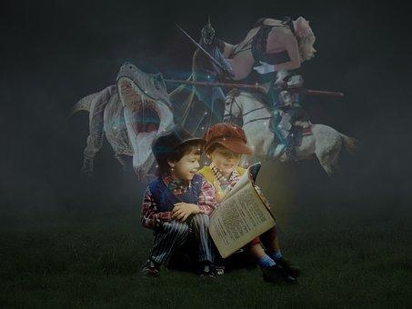 Book, Dreams, Fantasy, Fairy Tales, Read, Girl