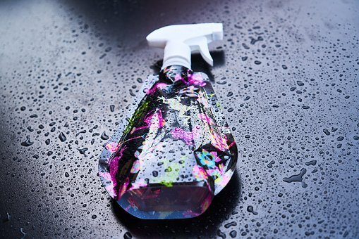 Spray, Bottle, Wet, Drop, Reflection, Macro, Detail