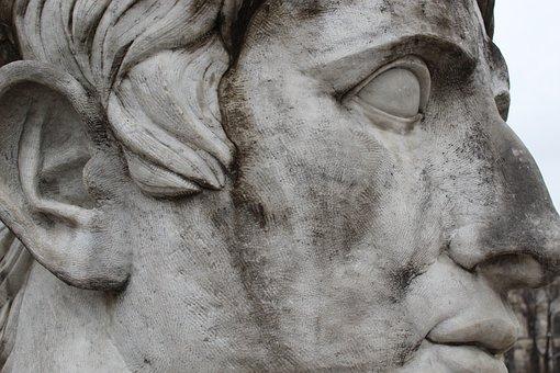 Sculpture, Statue, Art, Monument, Old, Antiquity, Face