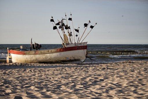 Sea, Boat, The Ship, Ship Water, The Coast, Sky