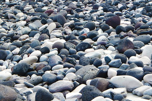 Pebble, Pebbles, Stones, Roche, Grey, White, Black