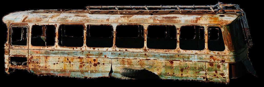 Bus, Old, Scrap, Rusted, Broken, Vehicle, Old Bus