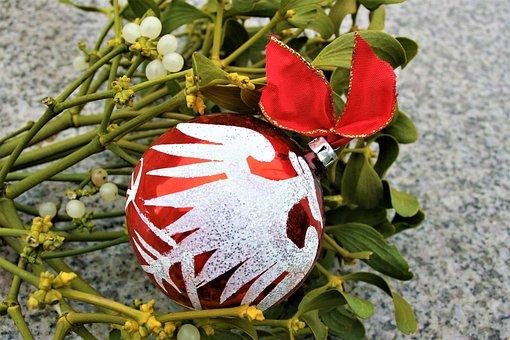 Bauble, The Ceremony, Mistletoe, Merry Christmas, Card