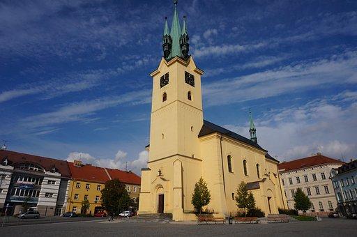 Church, Příbram, Bohemia, Architecture, Romance, St