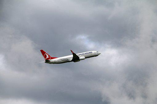 Aircraft, Jet, Flight, Air, Clouds, Turkish Airlines