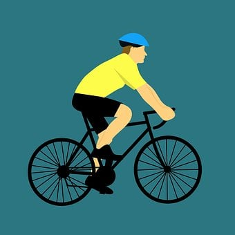 Wheel, Cyclist, Bike, Seated, Active, Man, Sport