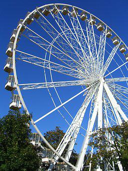 Wheel, Entertainment, Ferris Wheel, Turn, No Person