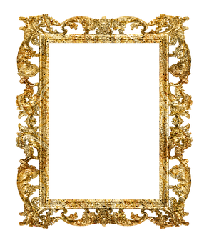 Frame, Baroque, Flowery, To Cut, Photo Frame