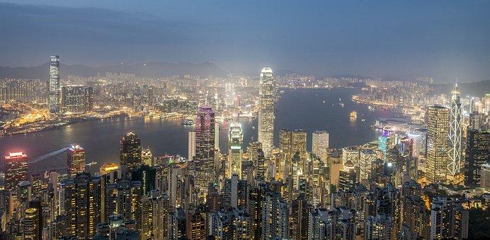 Hong Kong, Evening, City, Sunset, The Skyscraper
