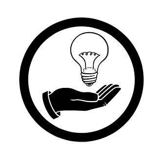 Retro Styled, Line Art, Old-fashioned, Light Bulb